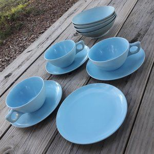 Cups and Saucers Melmac RV Camping Mugs Melamine